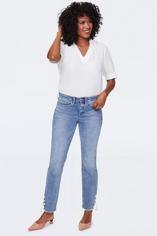 NYDJ Sheri Ankle Jeans with Laced Slits
