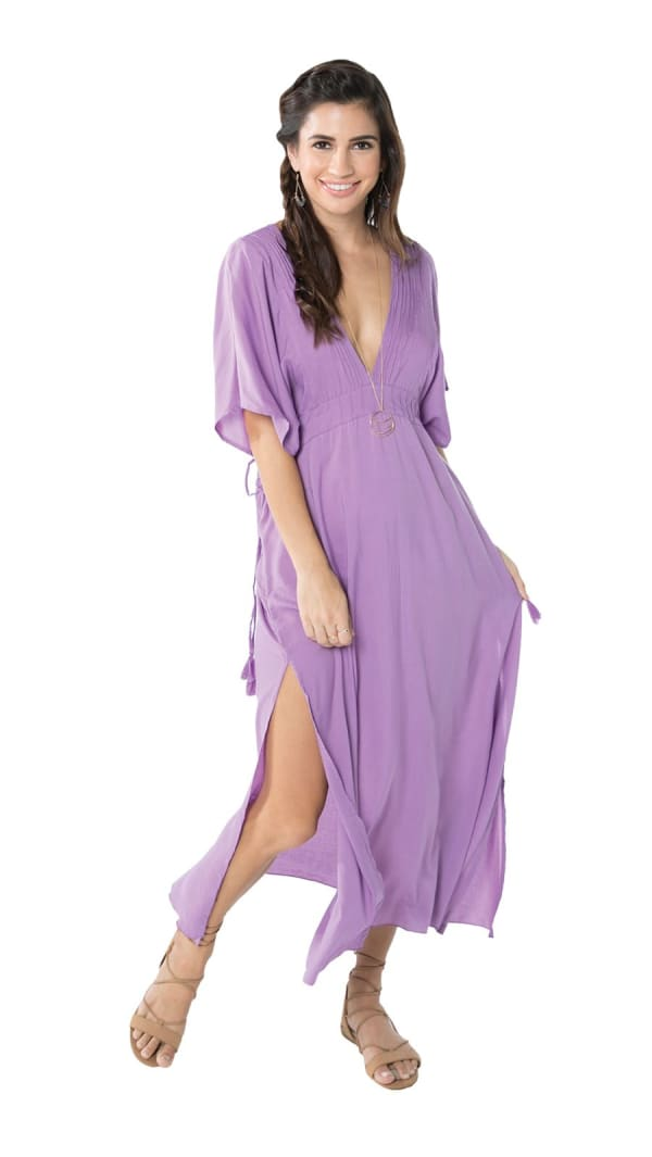 Bisous Tunic Sundress - Lilac - Front