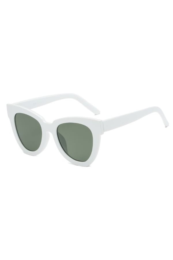 Cat-Eye Sunglasses - White - Front