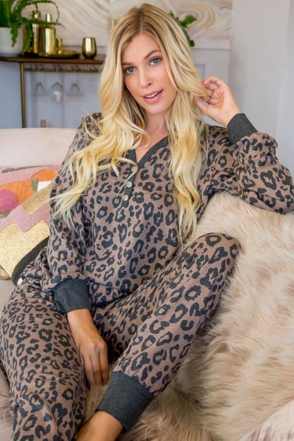 Leopard Weekend Top