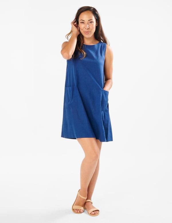 Marina Linen Trapeze Dress
