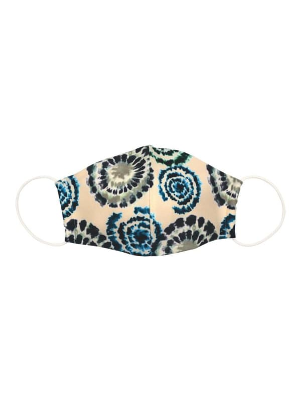 Suki Fashion Face Mask - Teal Tie Dye - Front