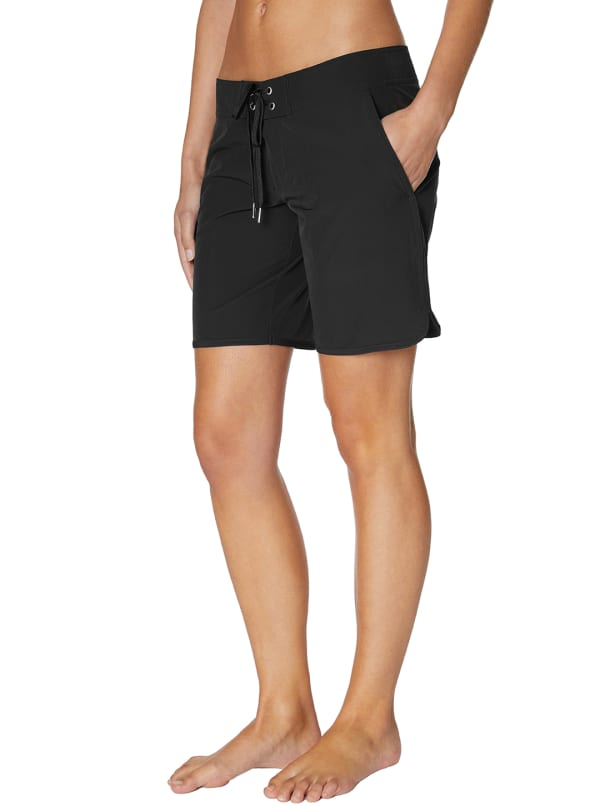Nautica® Swimsuit Board Shorts - Black - Front
