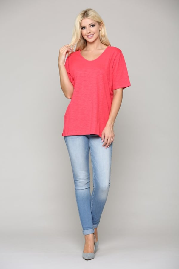Colette Top - Strawberry - Front