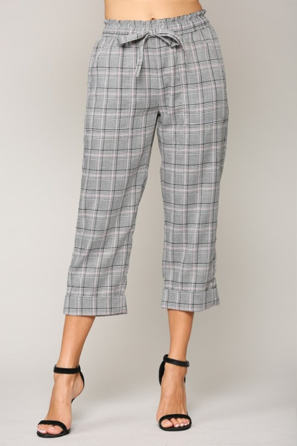 Wiley Stripe Pant - Plaid - Front