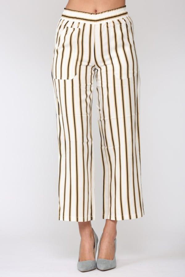 Waneeta Stripe Pant - Multi stripe - Front