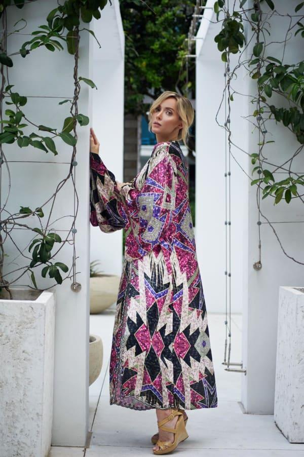 Violet Isabella Kimono - Multi - Front