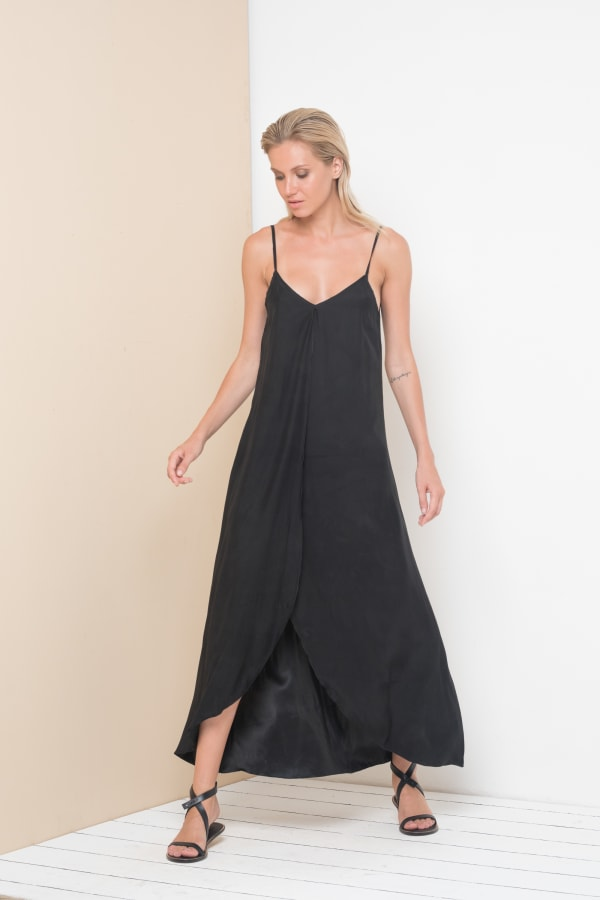 Alanis Dress - Black - Front