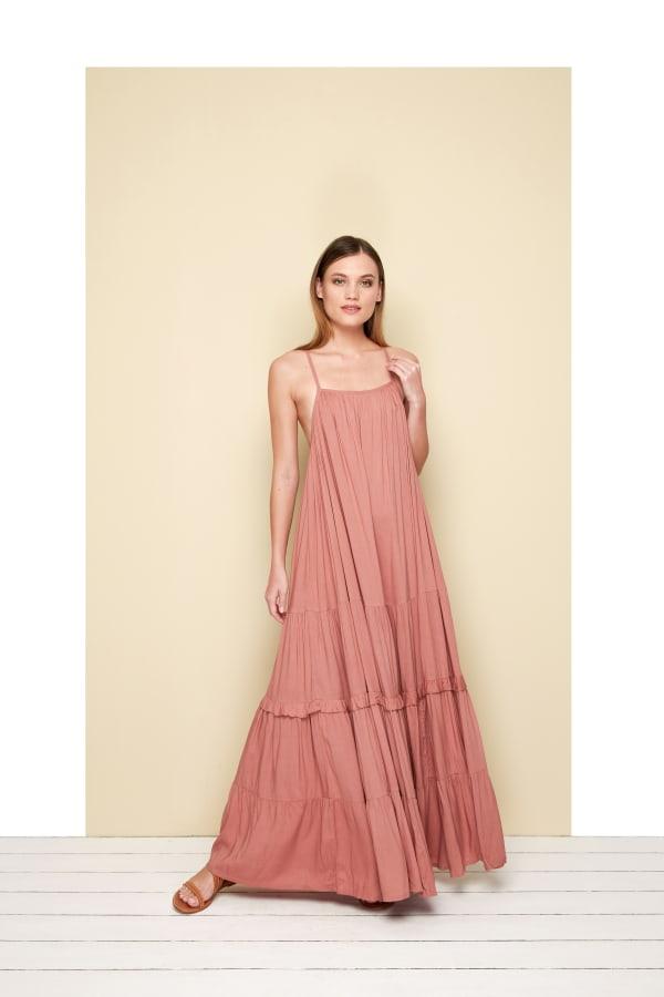 Esperanza Sleeveless Maxi Dress - Rosy - Front