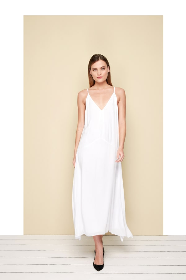 Toscana Dress - White - Front