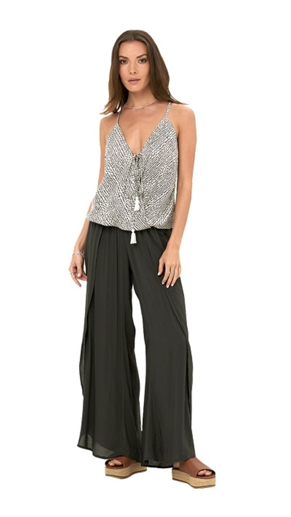 Maile Pants - Charcoal - Front