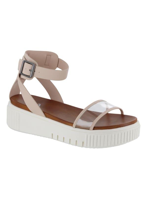 Mia Lunna Lucite Platform Sandal - blush/lucite - Front