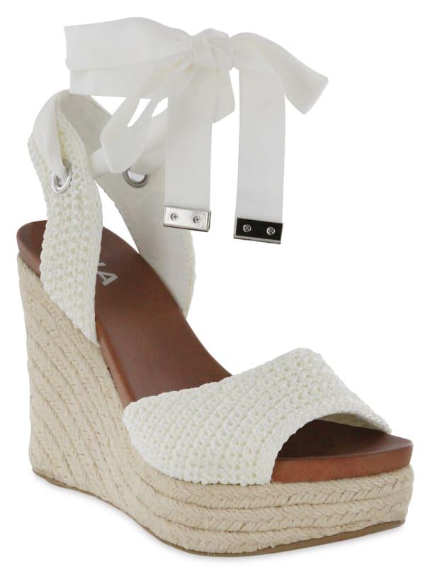 Mia Yanet Espadrille Wedge Sandal - white - Front
