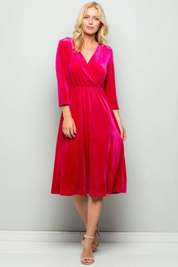 Elegant Velvet Evening Dress
