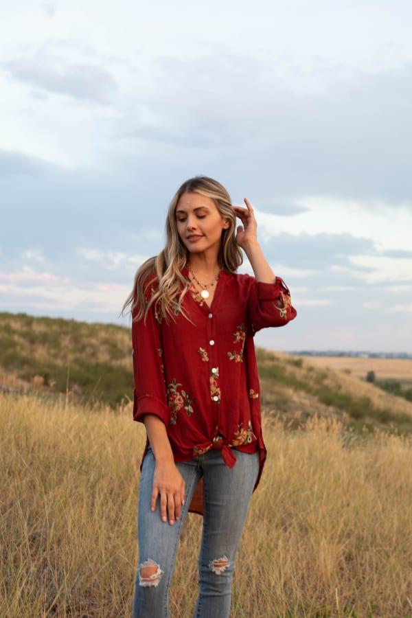 Westport Embroidered Shirt - Misses