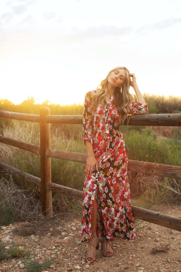 Reese Patch Floral  Dress