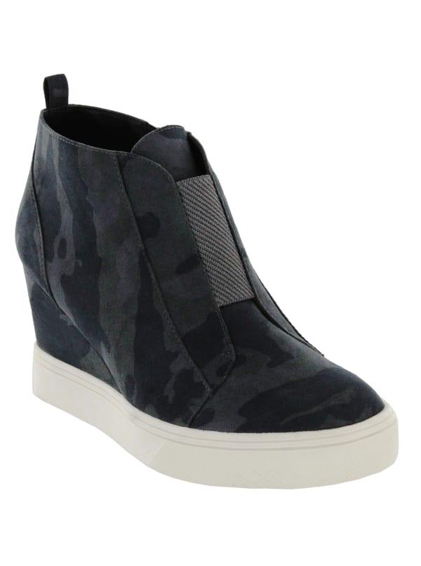 Mia Cristie Wedge Sneaker - Camo - Front