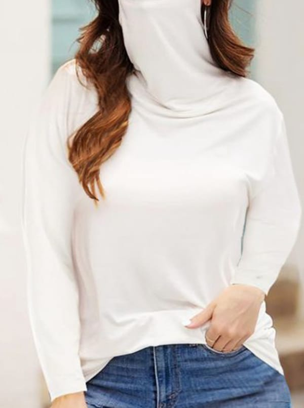 """""""Never Forget Your Mask"""" Curve Fashion Top - Plus - White - Front"""