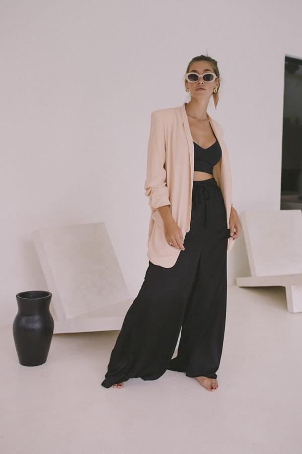 Oversized Blazer - Blush - Front