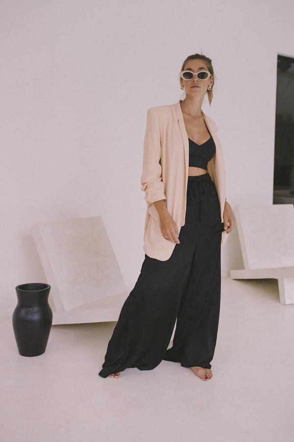 Oversized Blazer - Plus - Blush - Front