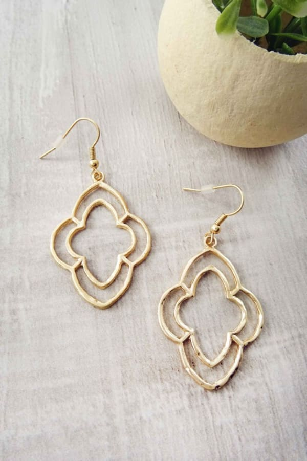 Clove Drop Earrings - Gold - Front