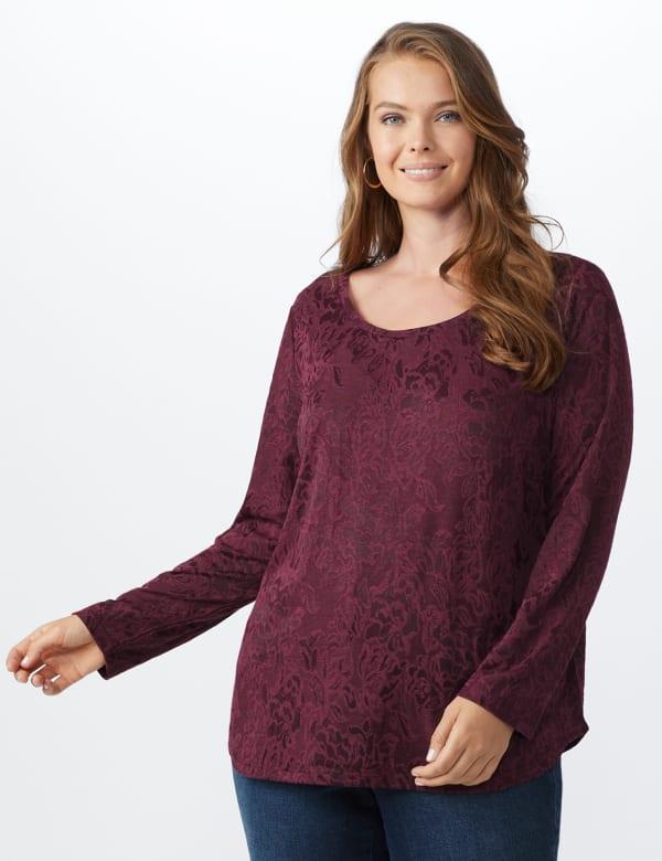 Jacquard Knit Top - Plus