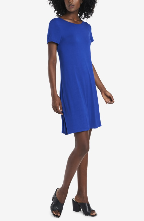Classic Tee Shirt Dress - Angel Fish Blue - Front