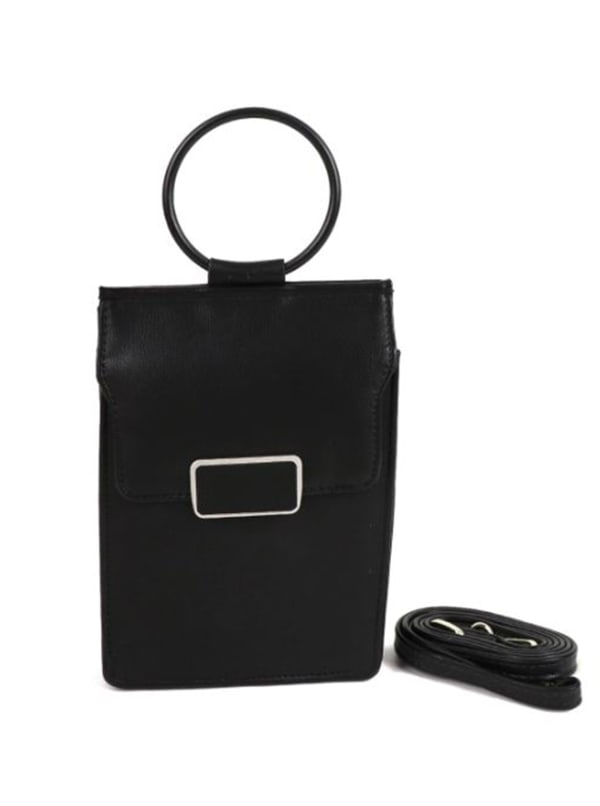 Multiuse Wallet/ Bag - Black - Front