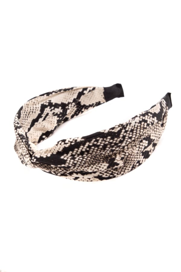 Snakeskin Print Knotted Head Band