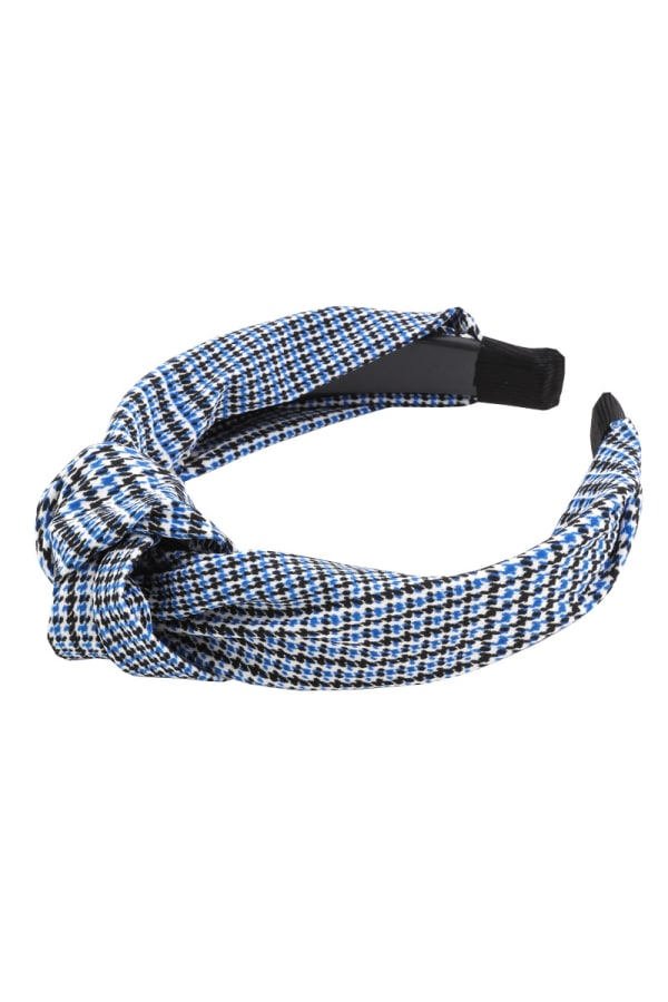 Houndstooth Print Knotted Headband