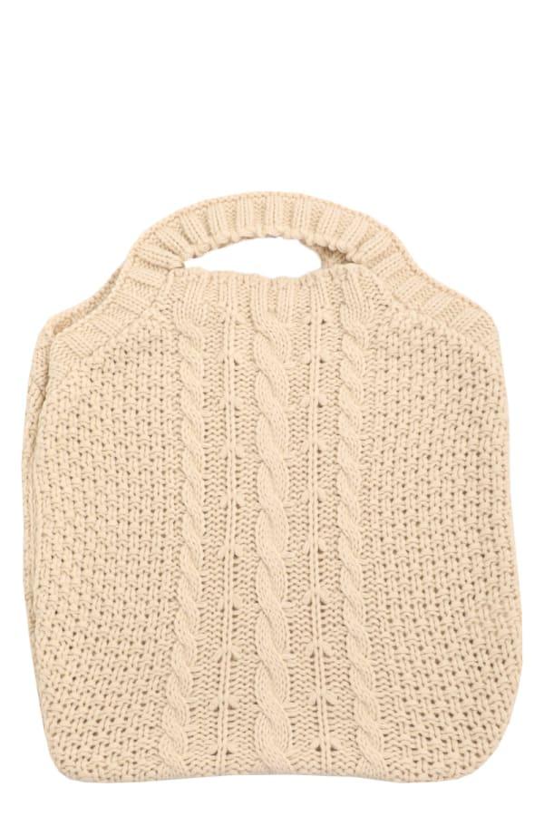 Cozy Crochet Knit Tote Bag