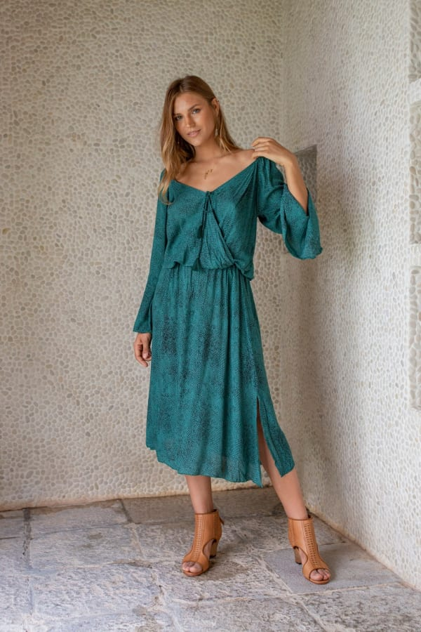 Allora Dress - Viper Green - Front