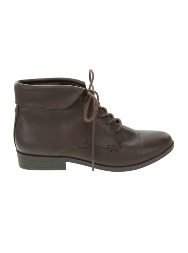 Claudette Lace Up Bootie - espresso - Front