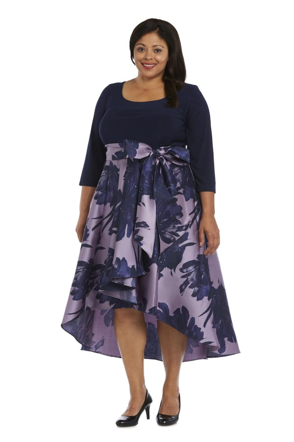 Cascading High Low Dress -Plus