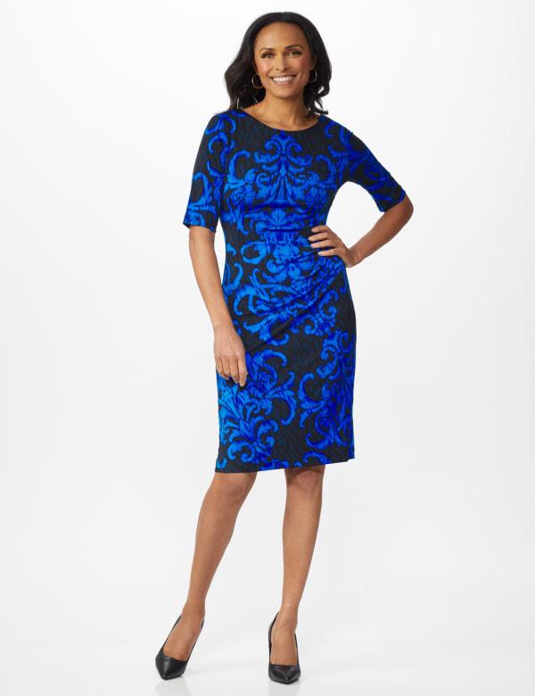 Scroll Sheath Dress