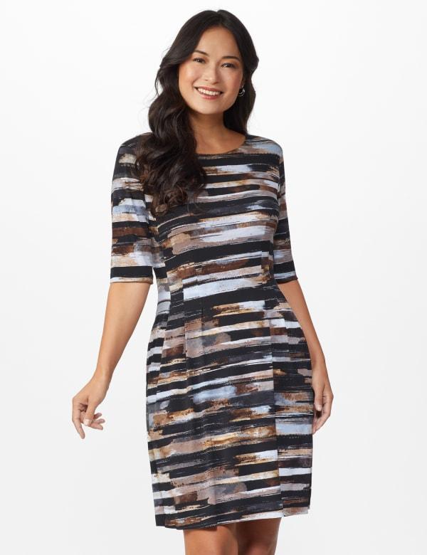 Brush Stroke Stripe Dress