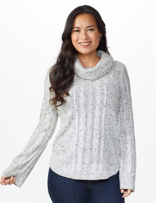 Westport Novelty Sleeve Curved Hem Sweater