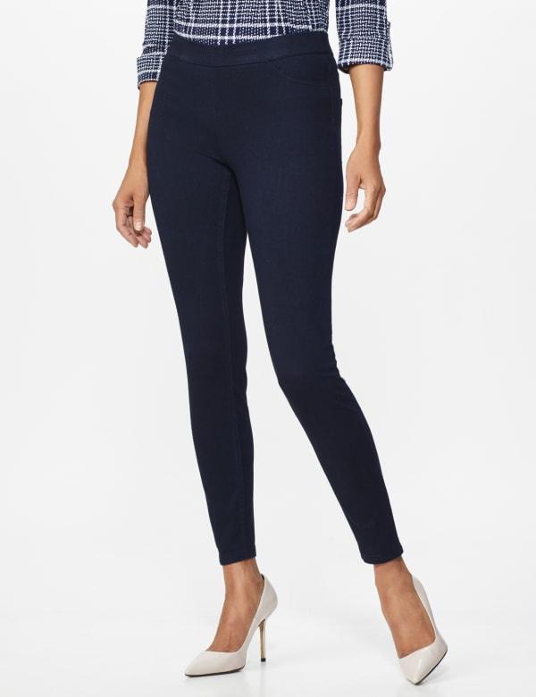 Ultra Stretch Denim Pull on Legging - Misses - Dark Wash - Front