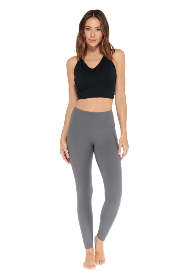 Butt Lifting Legging -Charcoal - Front