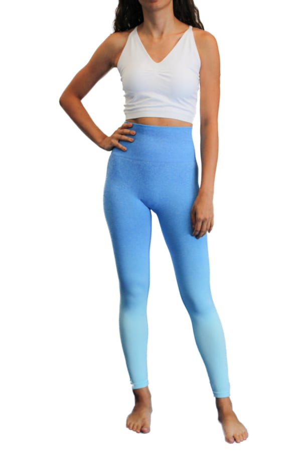 Charge Up Legging - Blue - Front