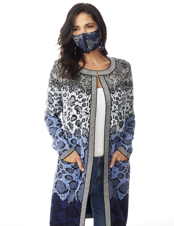 Roz & Ali Ombre Animal Duster Sweater