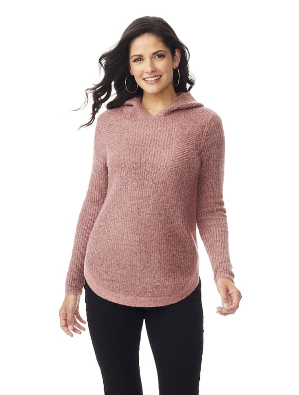 Westport Boucle Pullover Sweater - Sepia Note - Front