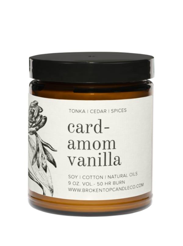 Cardamom Vanilla 9 oz.- Botanical Collection - Amber Glass - Front