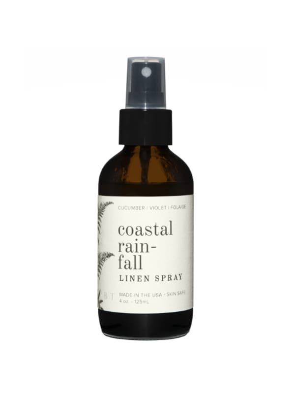 Coastal Rainfall- Linen Spray 4 oz.- Botanical Collection - Amber Glass - Front