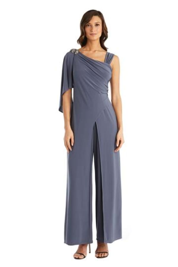 Asymmetric Side Ruche Panel Jumpsuit