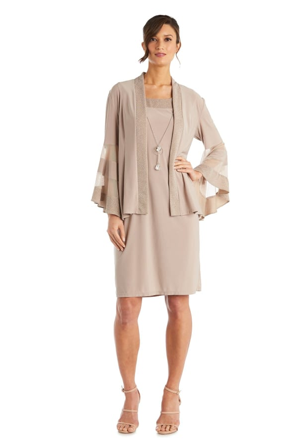 Two-Piece Necklace Sheath Dress & Jacket