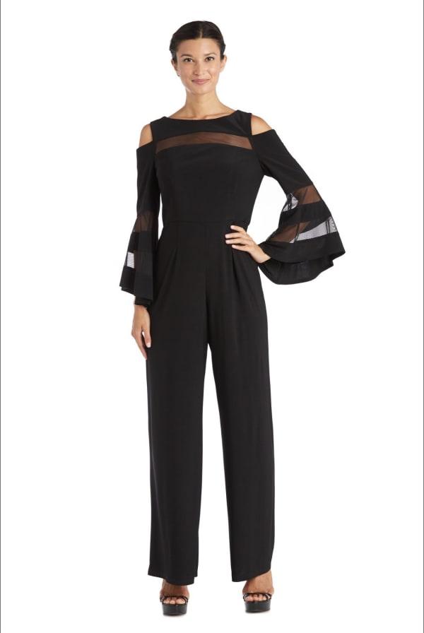 Cold Shoulder Black Jumpsuit