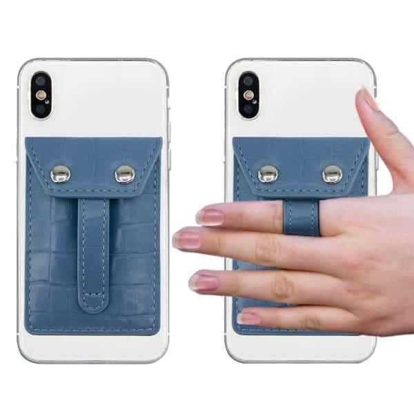 Phone Flipper Wallet - Blue Sky Croc - Front