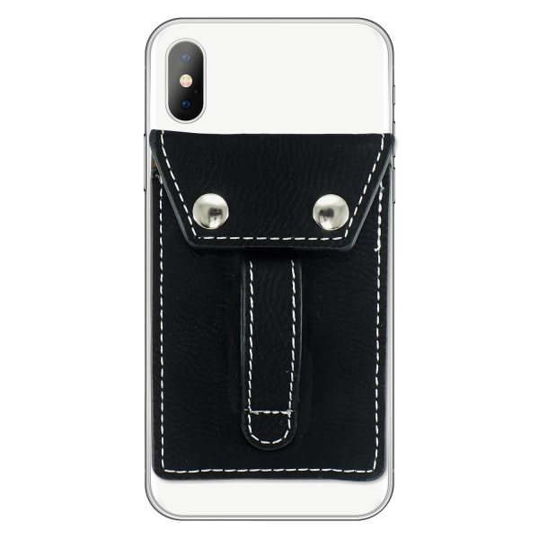 Phone Flipper Wallet - Black - Front