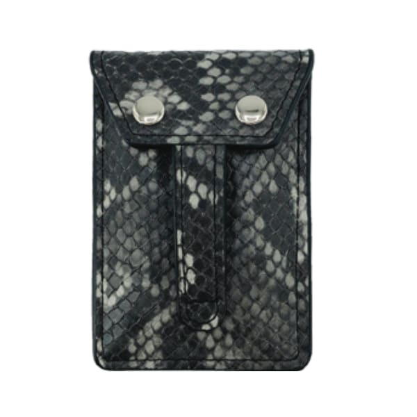 Phone Flipper Wallet - Grey Python - Front